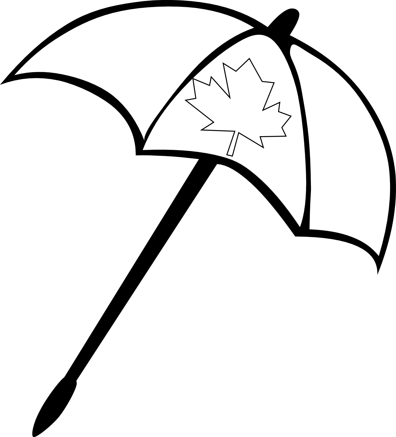 HD Summer Beach Clip Art Black And White Drawing ~ Vector Images Design.