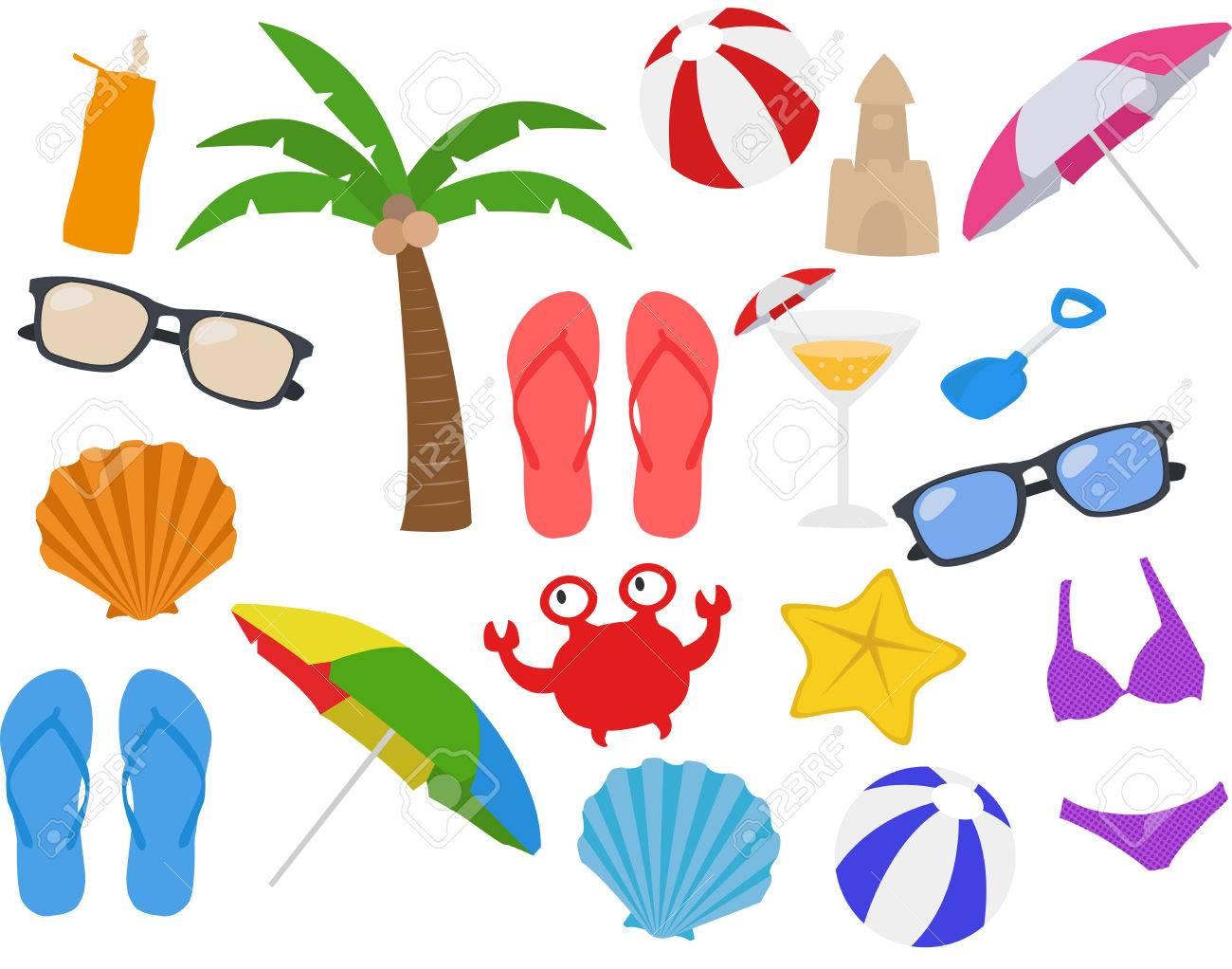 Summer, Vacation, Beach Clipart.