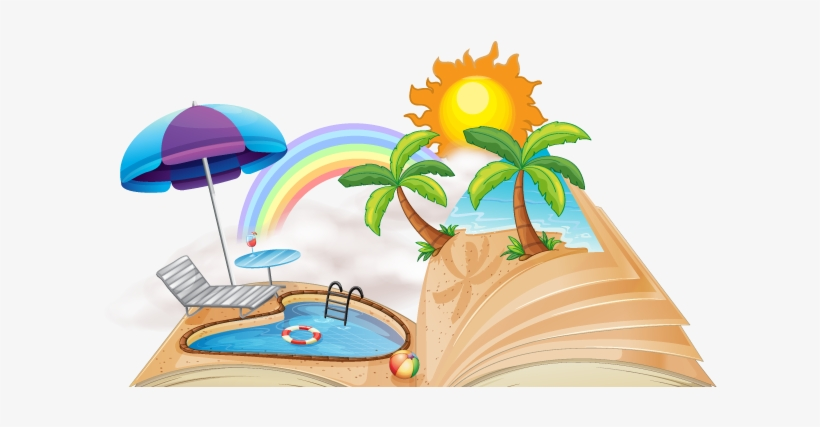 Beach Clipart Read.