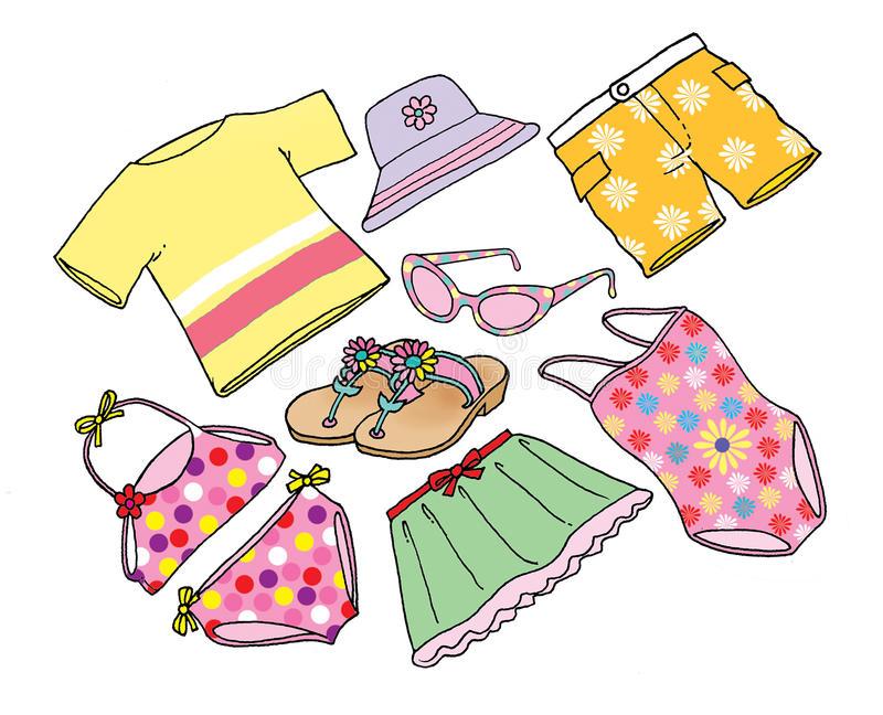 Beach Nail Stock Illustrations.