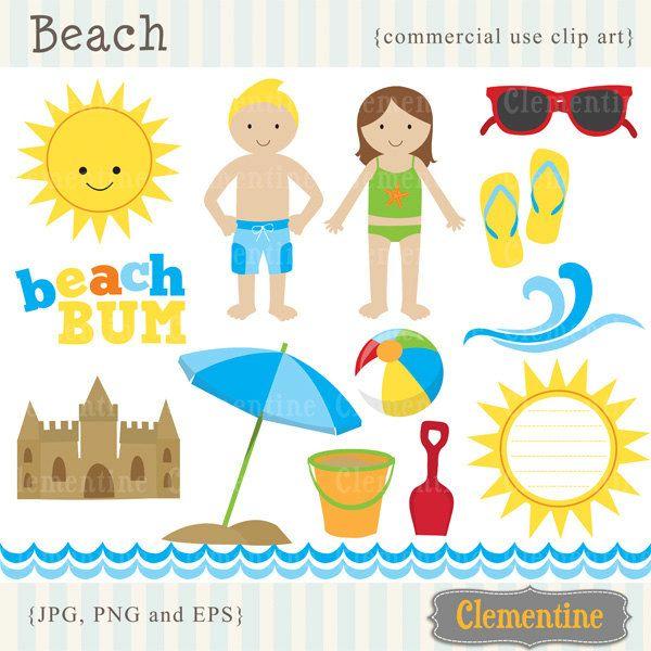66+ Free Clip Art Beach.