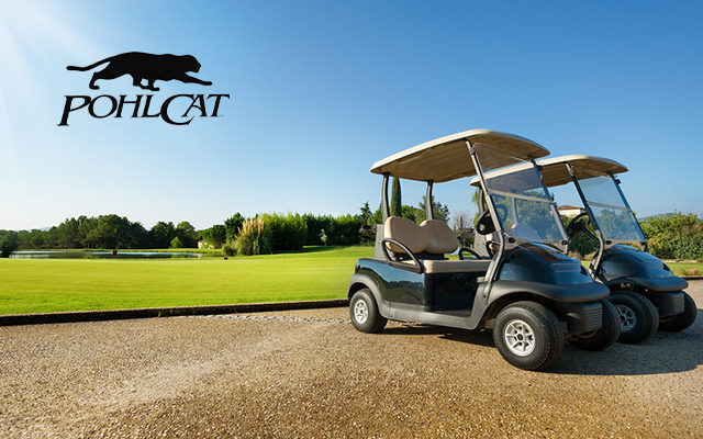 Golf Cart On Course.