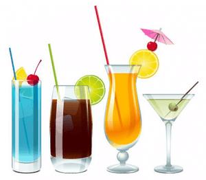 Beach Drinking Cliparts.