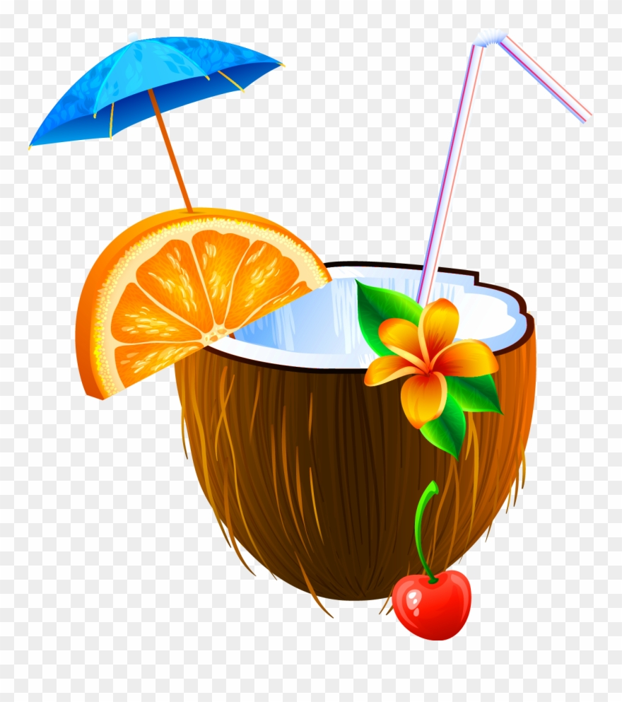Coconut Clipart Beach Drink.