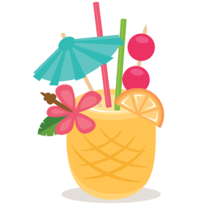 FREE Cut file of the Day} Pineapple Drink.