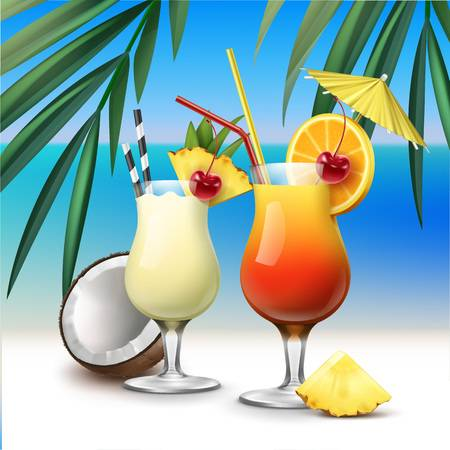 33,154 Tropical Drink Stock Vector Illustration And Royalty Free.