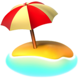 Beach with Umbrella Emoji (U+1F3D6).