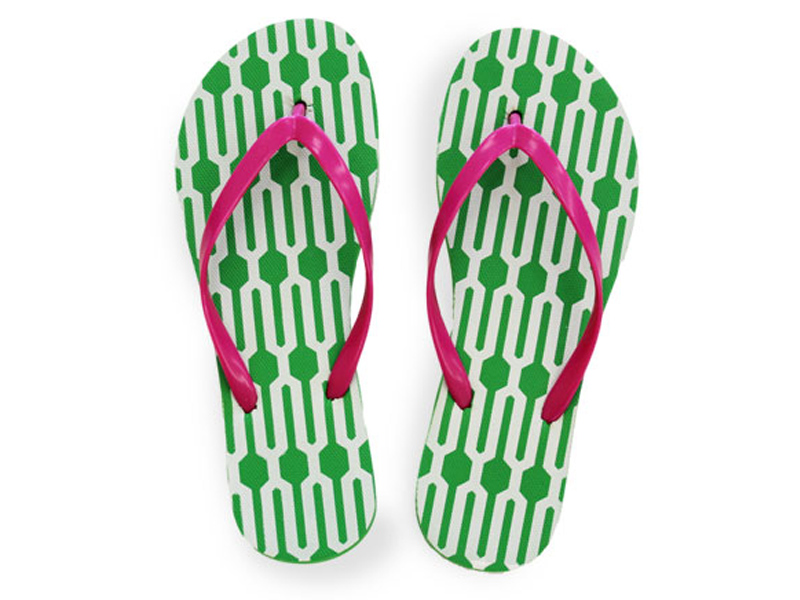 Colorful Printed Flip Flops for Women.