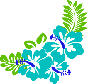 Blue Green Tropical Flowers Clip Art at Clker.com.