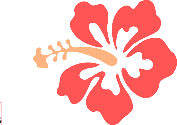 Beach flower clipart.