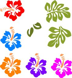 Tropical Flower Stencils.
