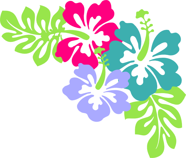 Hawaiian Flower Clipart.