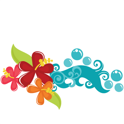 Tropical Flowers SVG cut files tropical svg files beach svg files.