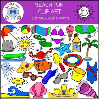 Beach Fun Clip Art.
