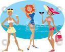 Beach girls clipart.