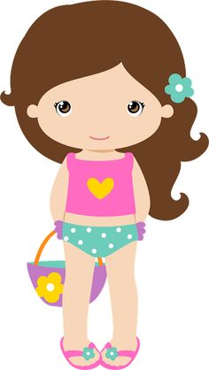 Beach girls clipart.
