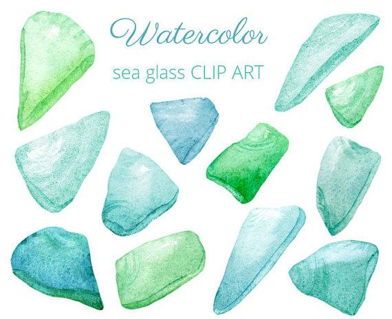 Glass beach clipart.