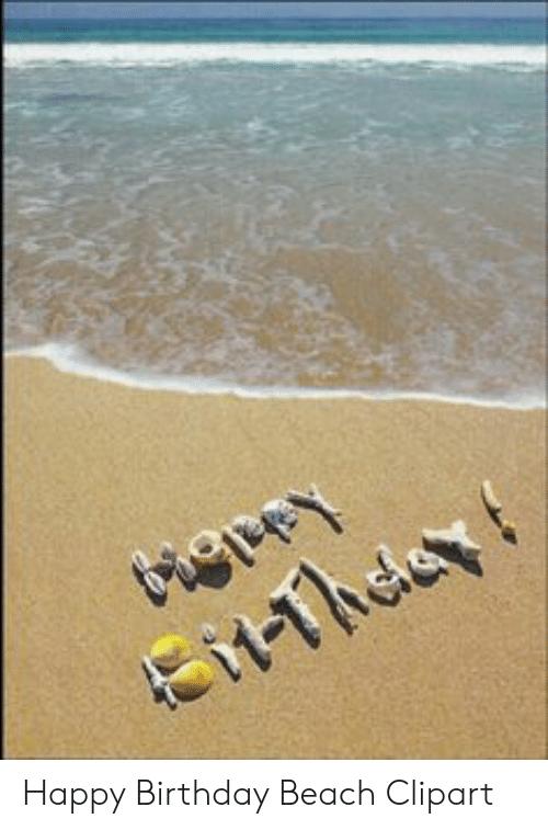 Happy Birthday Beach Clipart.
