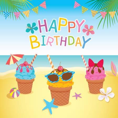 Happy birthday beach clipart 7 » Clipart Station.