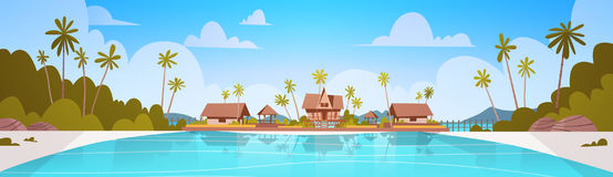 Beach Hotel Stock Illustrations.