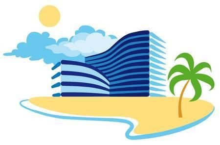 Beach hotel clipart 2 » Clipart Portal.