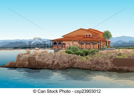 Beach house Illustrations and Clipart. 2,659 Beach house royalty.