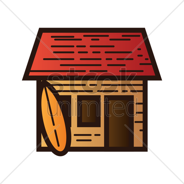 Beach house Vector Image.
