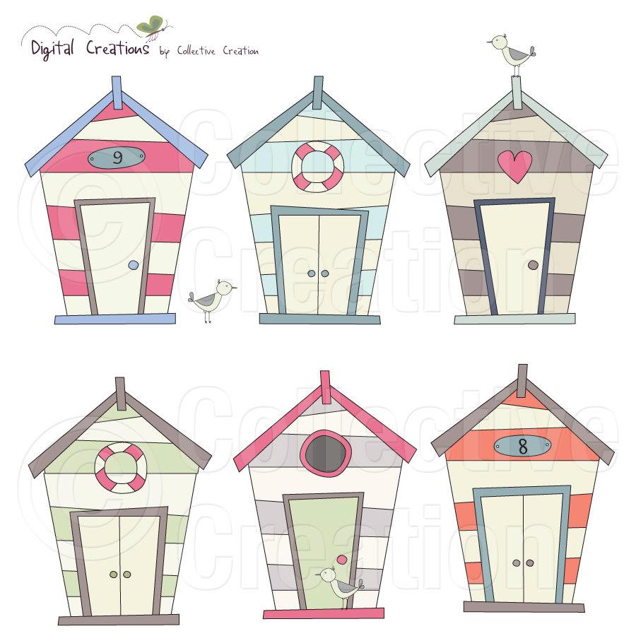 Beach Houses Clipart