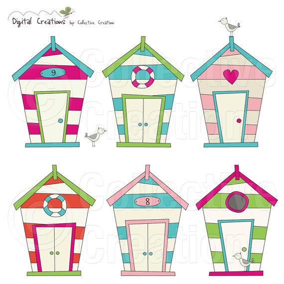 Beach house clipart images.