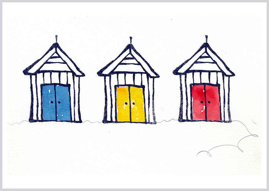 Beach Hut Clipart.