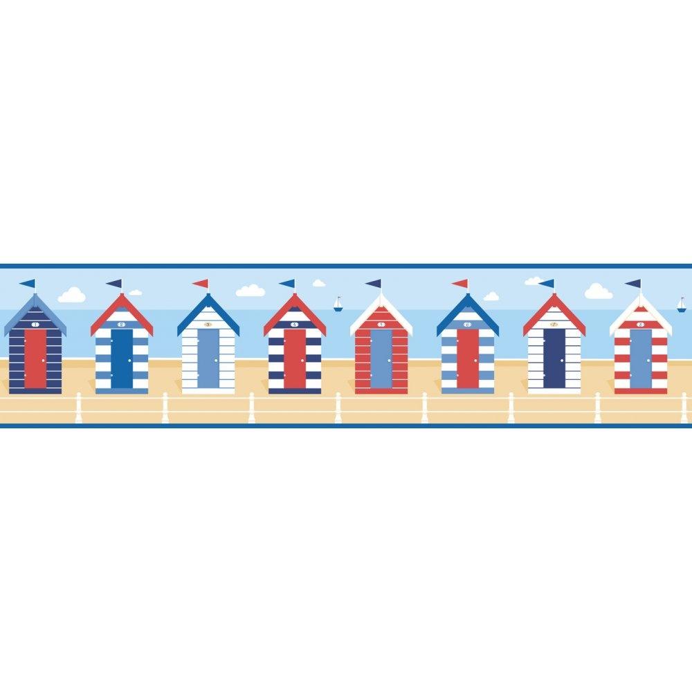 Beach Hut Wallpaper.