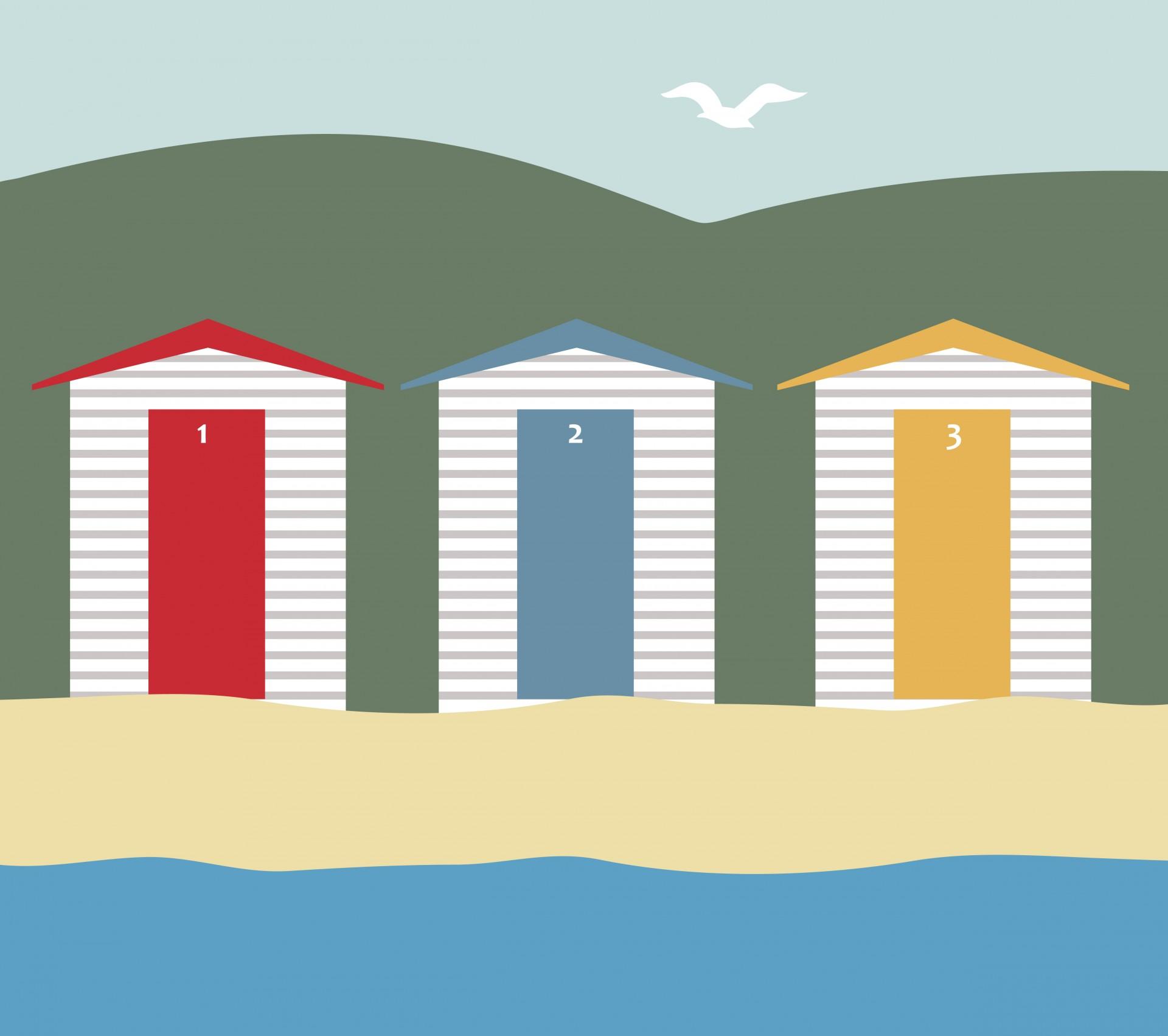 Beach hut clipart free.