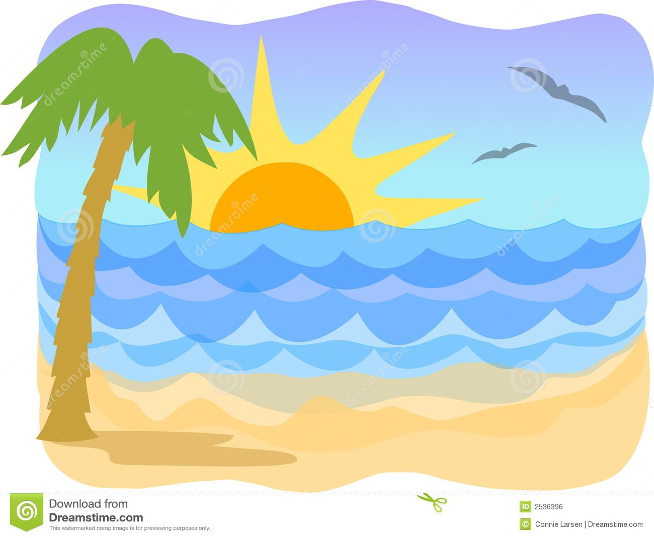 Tropical Beach/ai Royalty Free Stock Image.