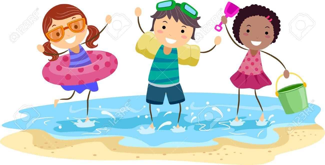 Kids on beach clipart 5 » Clipart Portal.