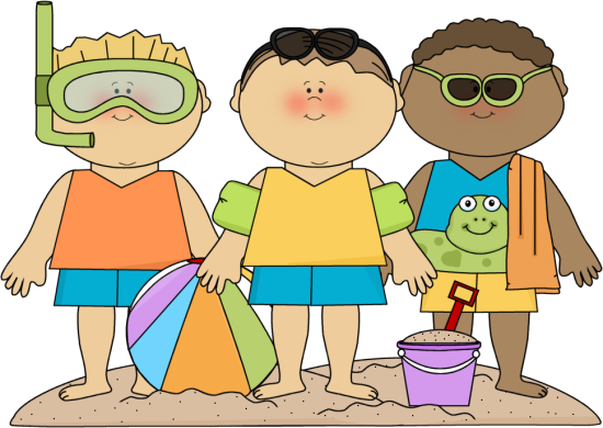SUMMER BOYS ON BEACH CLIP ART.