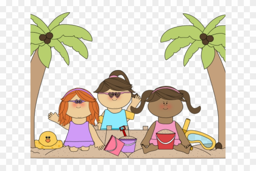 Kids Beach Clipart, HD Png Download.