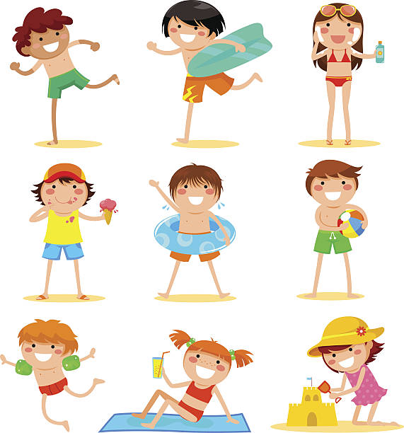 Kids at the beach » Clipart Station.