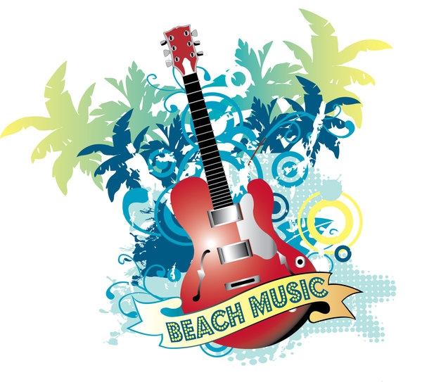 Beach Music Clipart.