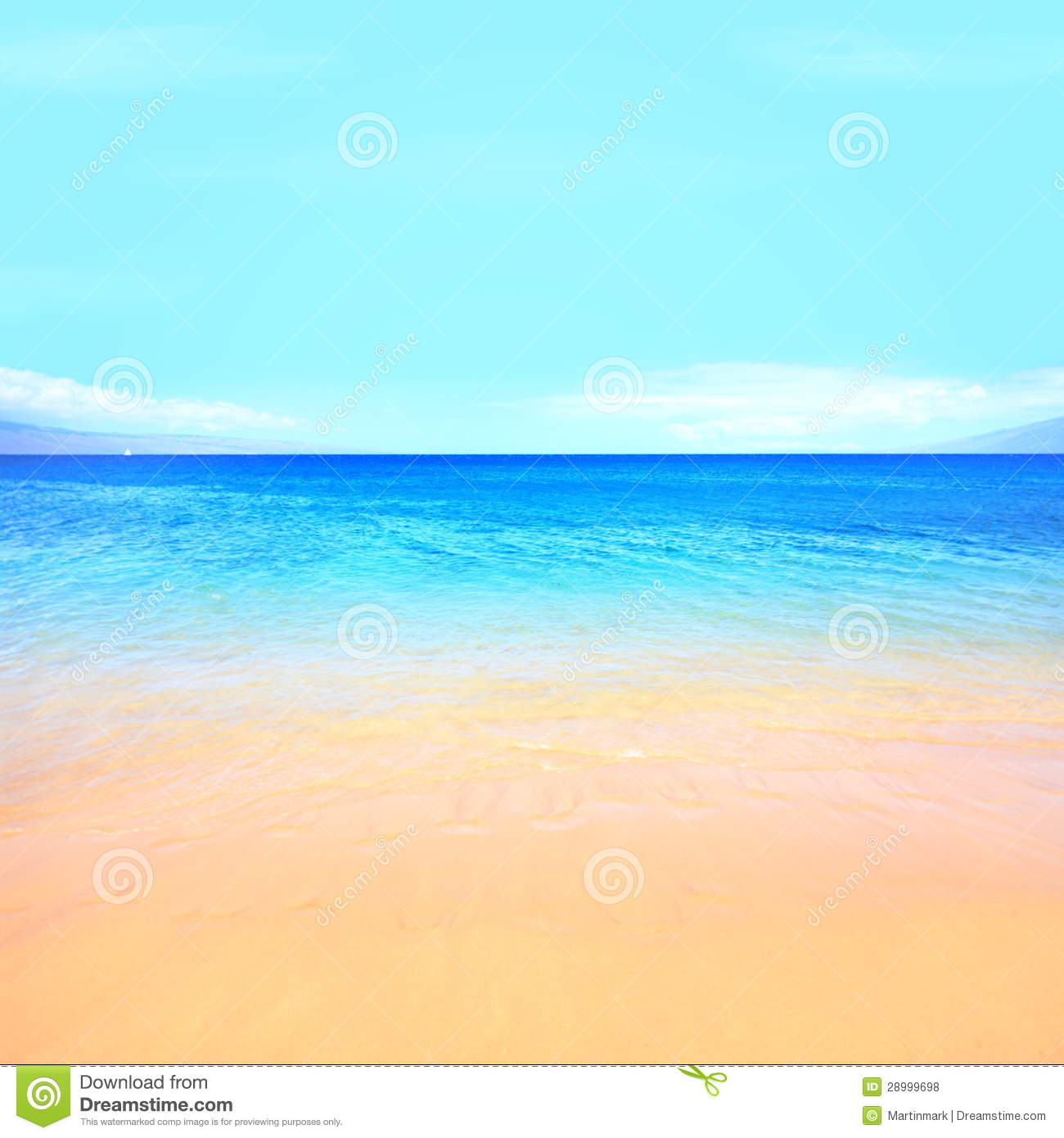 Fundo Do Oceano Da Praia Fotos de Stock Royalty Free.