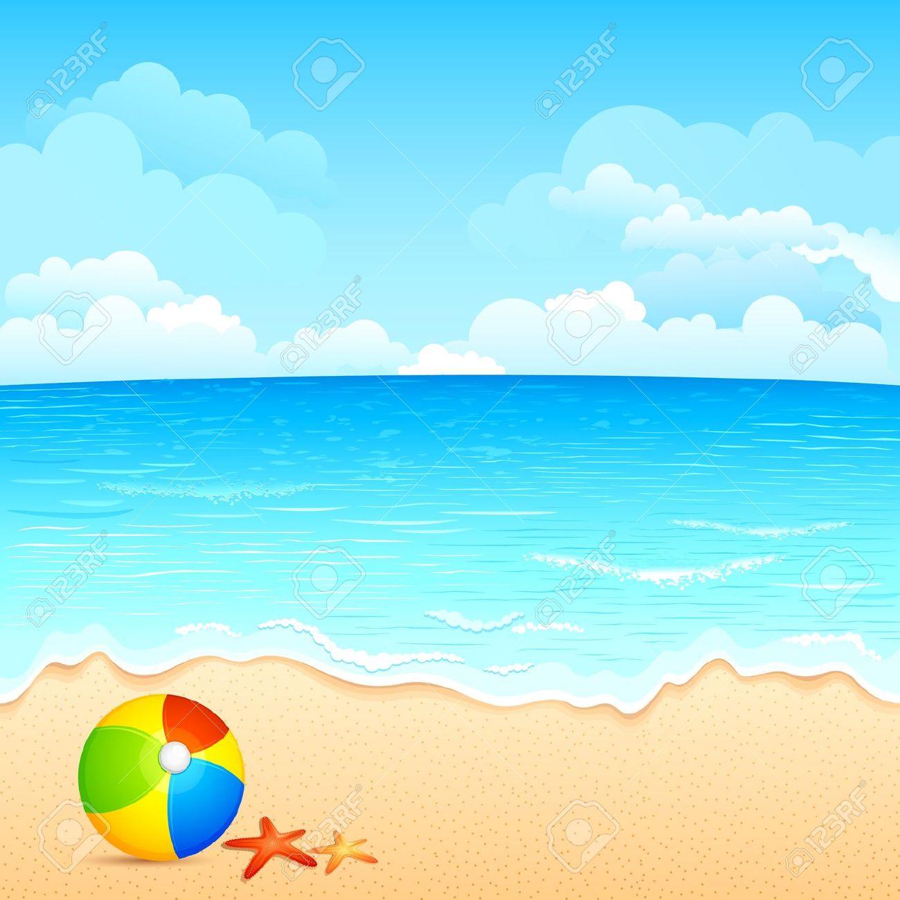Ocean scenery clipart.