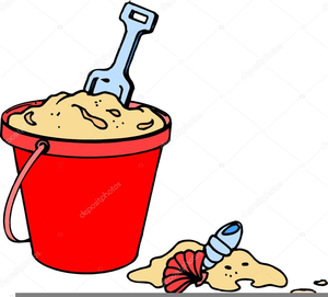 Beach Pail Shovel Clipart.