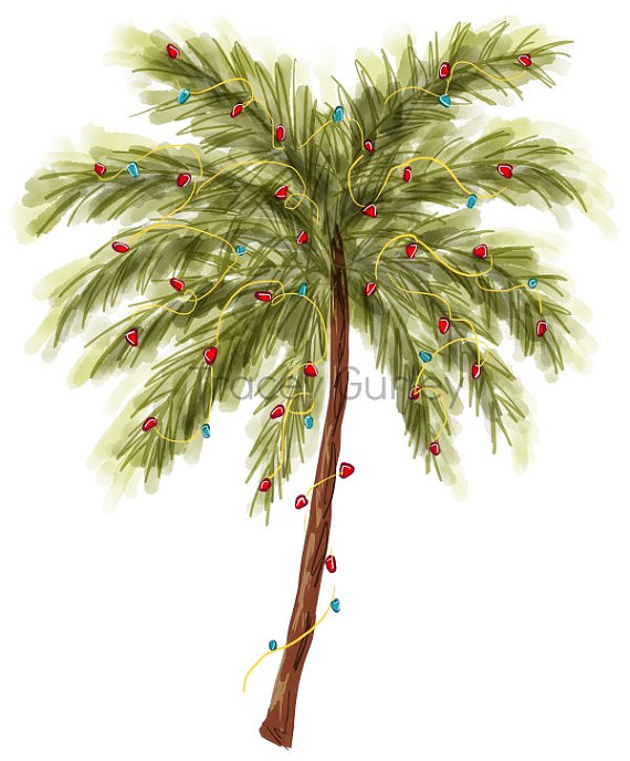 Christmas Tree clip art, Beach Christmas tree, christmas.