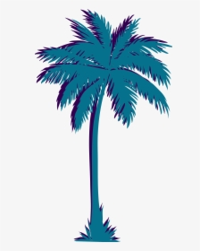 Vaporwave Palm Tree Png, Transparent Png , Transparent Png.