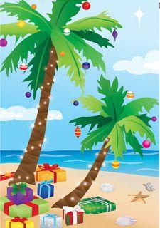Tropical Christmas Cards.
