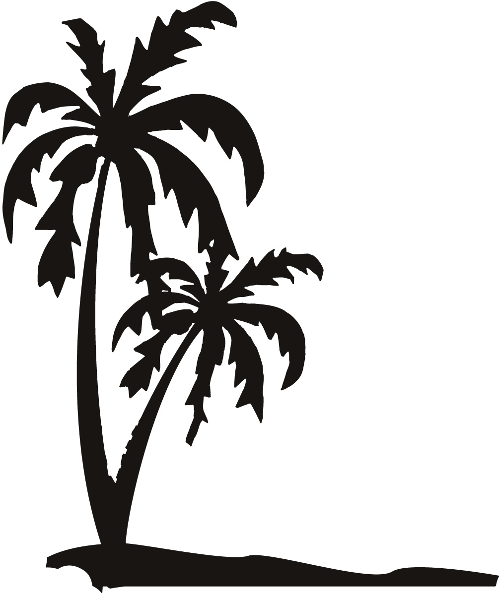 Sand with palm tree clipart.