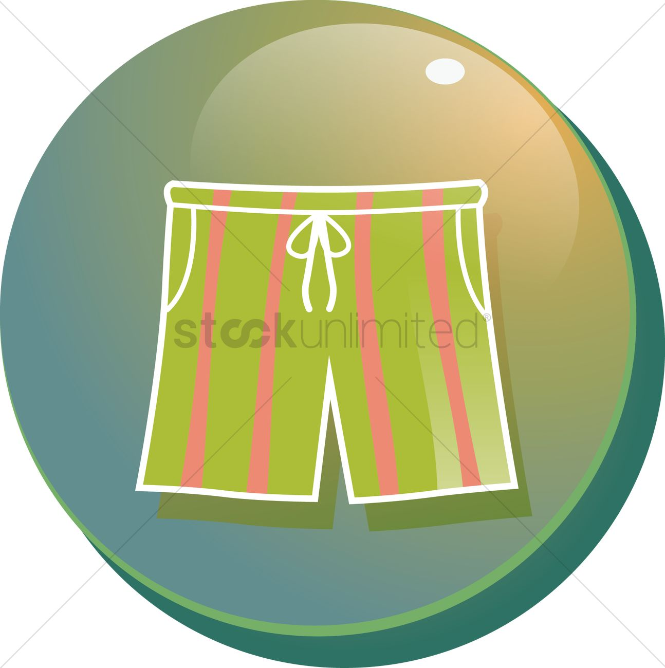 Beach pants clipart #7