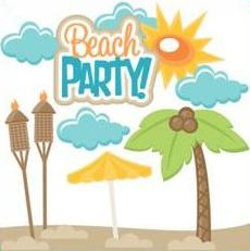 Beach Party Clipart Group with 56+ items.