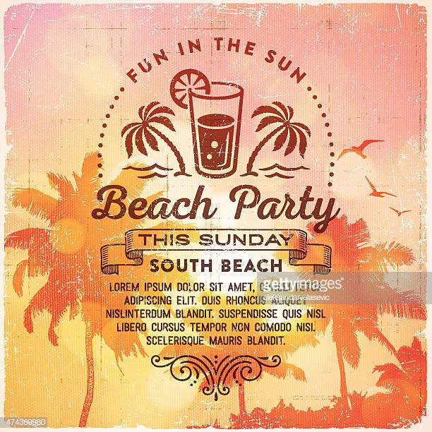 60 Top Beach Party Stock Illustrations, Clip art, Cartoons, & Icons.