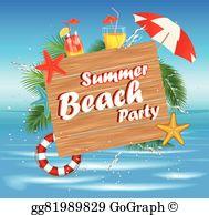 Beach Party Clip Art.