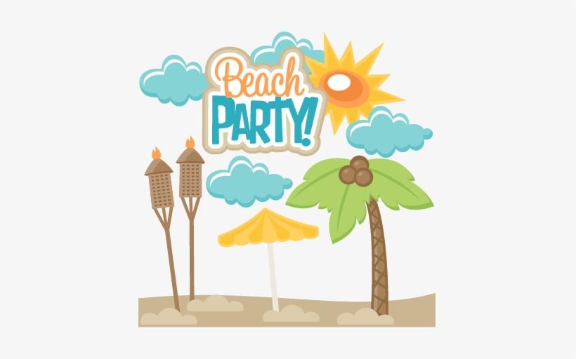Beach Party Svg Scrapbook Title Svg Cut File Free Svg.